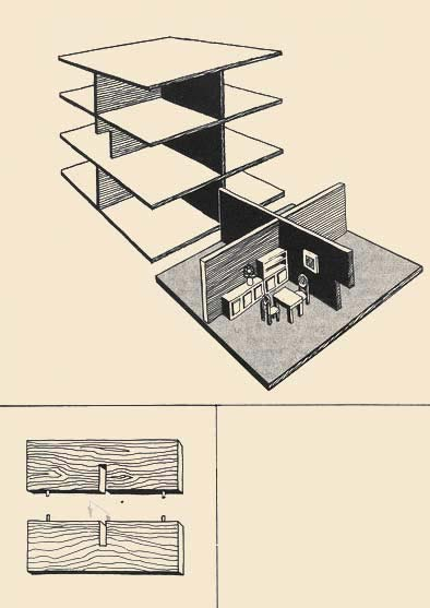 Drawing below shows a design of the future walls of rooms made cross-wise. If in the house some floors are provided, necessary shkanty it is necessary to place vrazbezhku as intermediate plates can be such thickness that shkanty from below and from above will come across against each other.